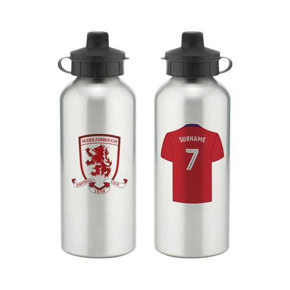Personalised Middlesbrough FC Aluminium Water Bottle
