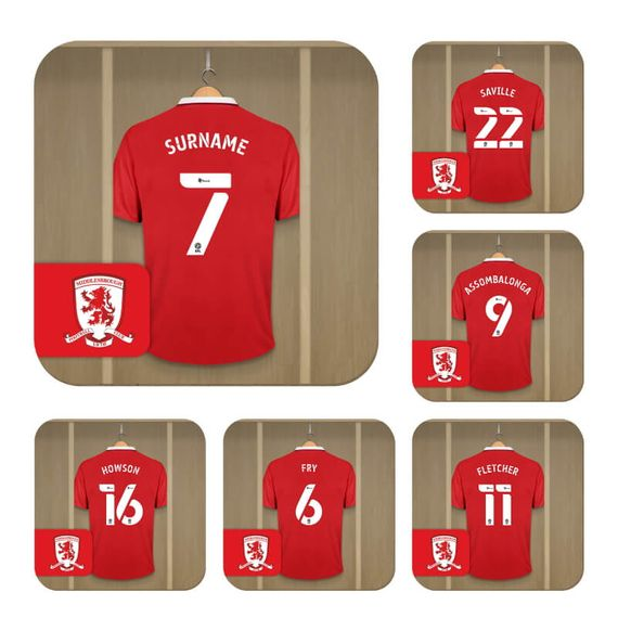 Personalised Middlesbrough FC Dressing Room Coasters