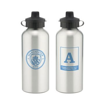 Personalised Manchester City FC Monogram Aluminium Water Bottle