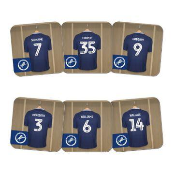 Personalised Millwall FC Dressing Room Coasters