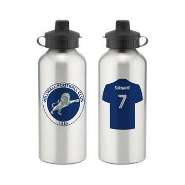 Personalised Millwall FC Aluminium Water Bottle