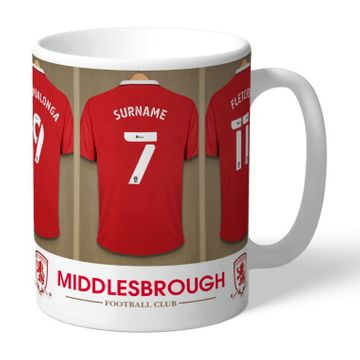 Personalised Middlesbrough FC Dressing Room Mug