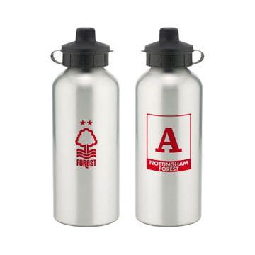 Personalised Nottingham Forest FC Monogram Aluminium Water Bottle