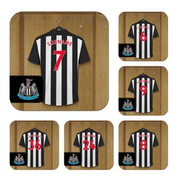 Personalised Newcastle United FC Dressing Room Coasters
