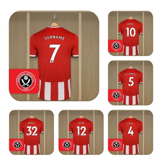 Personalised Sheffield United FC Dressing Room Coasters