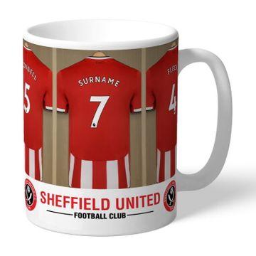 Personalised Sheffield United FC Dressing Room Mug