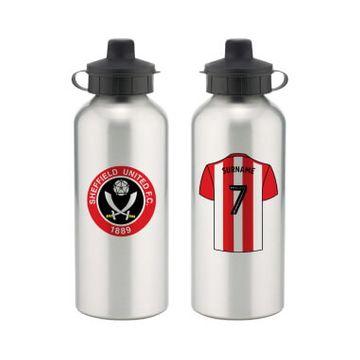 Personalised Sheffield United FC Aluminium Water Bottle