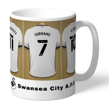 Personalised Swansea City AFC Dressing Room Mug