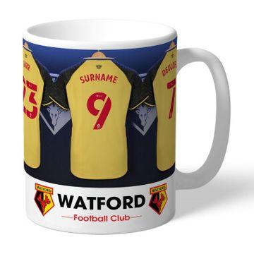 Personalised Watford FC Dressing Room Mug