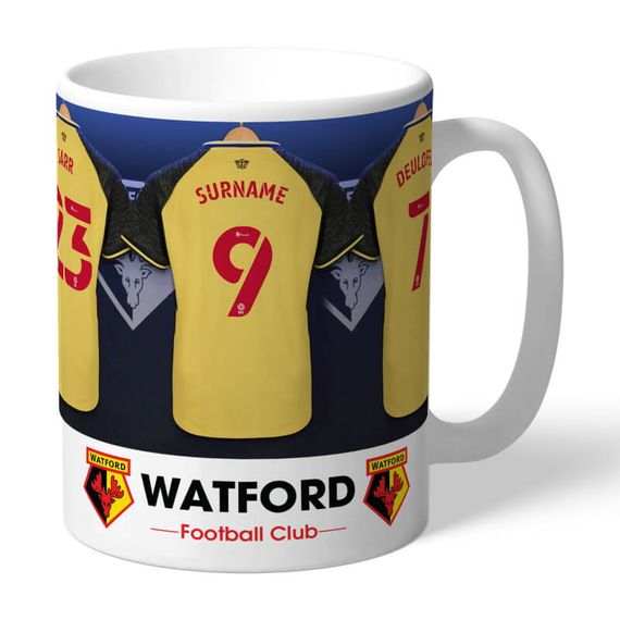 Personalised Watford FC Dressing Room Mug