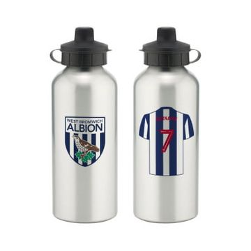 Personalised West Bromwich Albion FC Aluminium Water Bottle