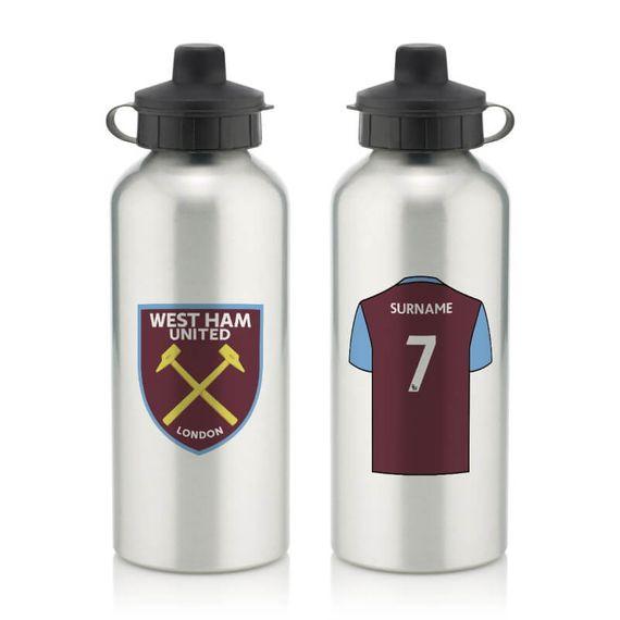 Personalised West Ham United FC Aluminium Water Bottle