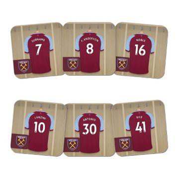 Personalised West Ham United FC Dressing Room Coasters