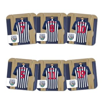 Personalised West Bromwich Albion FC Dressing Room Coasters