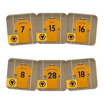 Personalised Wolverhampton Wanderers FC Dressing Room Coasters
