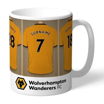 Personalised Wolverhampton Wanderers FC Dressing Room Mug