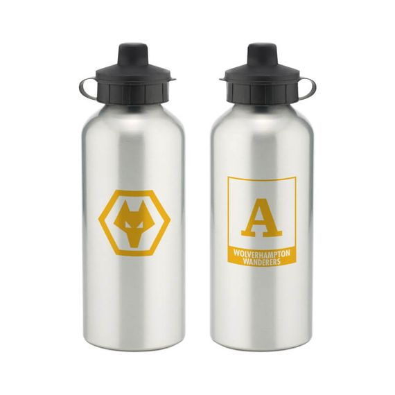 Personalised Wolverhampton Wanderers Monogram Aluminium Water Bottle