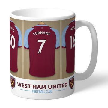 Personalised West Ham United FC Dressing Room Mug
