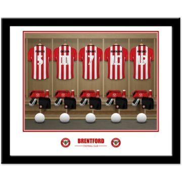 Personalised Brentford FC Dressing Room Framed Print
