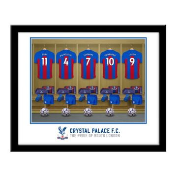 Personalised Crystal Palace FC Dressing Room Framed Print