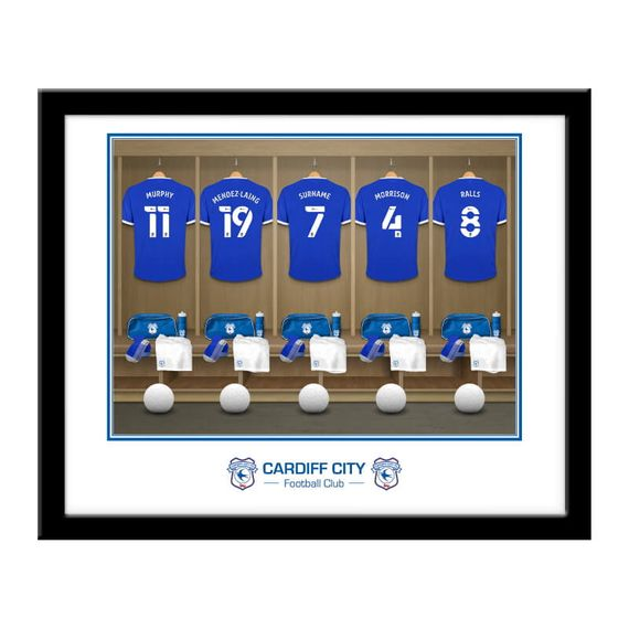 Personalised Cardiff City Dressing Room Framed Print