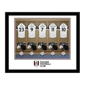 Personalised Fulham FC Dressing Room Framed Print