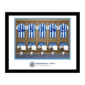 Personalised Huddersfield Town AFC Dressing Room Framed Print