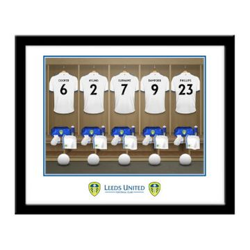 Personalised Leeds United FC Dressing Room Framed Print