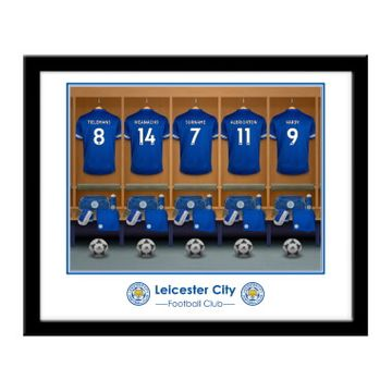 Personalised Leicester City FC Dressing Room Framed Print