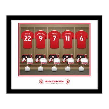 Personalised Middlesbrough FC Dressing Room Framed Print