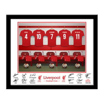 Personalised Liverpool FC Dressing Room Framed Print