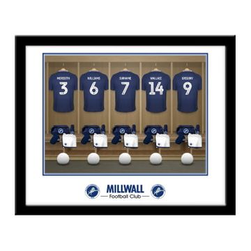 Personalised Millwall FC Dressing Room Framed Print