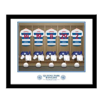 Personalised Queens Park Rangers FC Dressing Room Framed Print