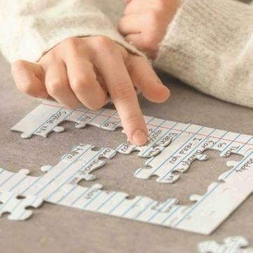 Blank Letter Jigsaw Puzzle