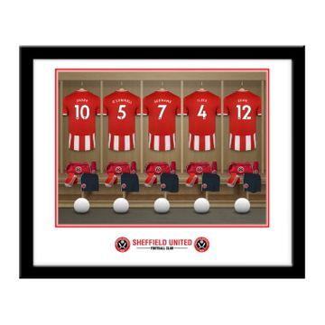 Personalised Sheffield United FC Dressing Room Framed Print