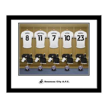 Personalised Swansea City AFC Dressing Room Framed Print