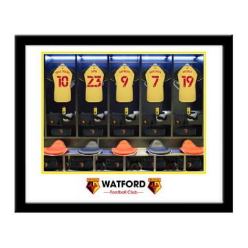 Personalised Watford FC Dressing Room Framed Print
