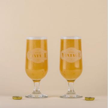 Personalised Vintage Craft Beer Glass
