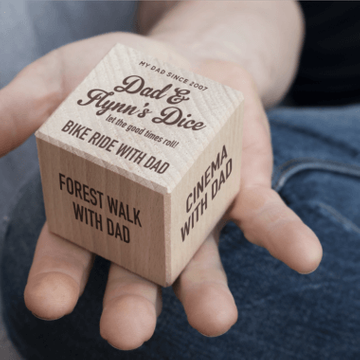 Personalised Wooden Dad Dice