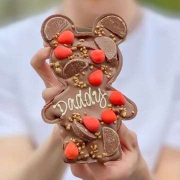 Personalised Loaded Chocolate Orange Papa & Baby Bear
