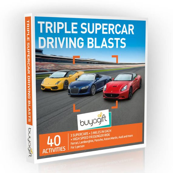 Triple Supercar Driving Blasts Experience Box
