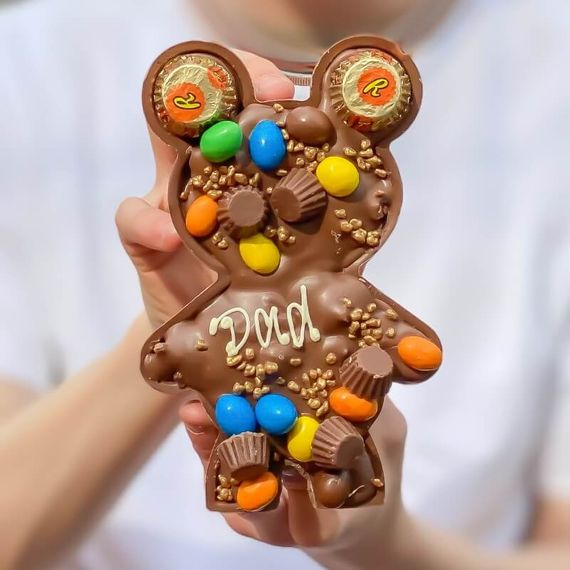 Personalised Loaded Nutty Papa & Baby Bear
