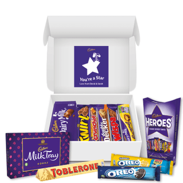 Personalised Star Cadbury Family Hamper