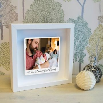 Personalised First Met Photo Box Frame