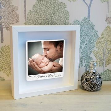 Personalised First Fathers Day Photo Box Frame