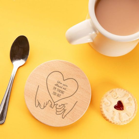 Personalised Taking You Out Coaster