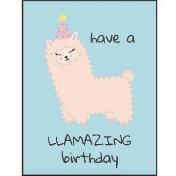 Personalised LLamazing Birthday Card