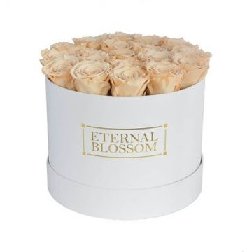 One Year Roses Large Round Box