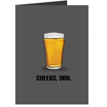 Personalised Cheers Dad Card