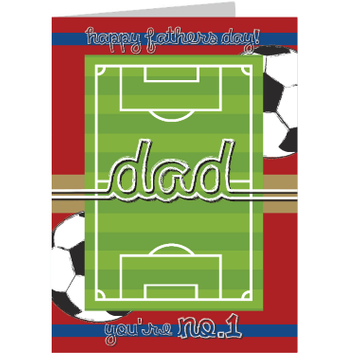Personalised No.1 Dad Football Card